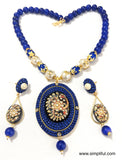Traditional Tanjore Painting Pendant Necklace and Earring set - Simpliful
