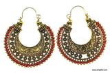 Antique gold oxidized Bali style Earring - Different designs and colors available