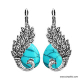 Oxidized replica Peacock Vintage style Earring - Simpliful