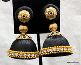 Silk Thread Bell shaped Medium Jhumka Earring - Simpliful