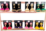 Silk Thread Bell shaped Jhumka Earring - Medium - Simpliful