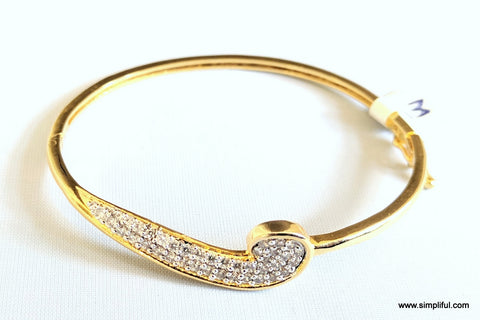 Gold plated Designer Bangle Bracelet - Simpliful