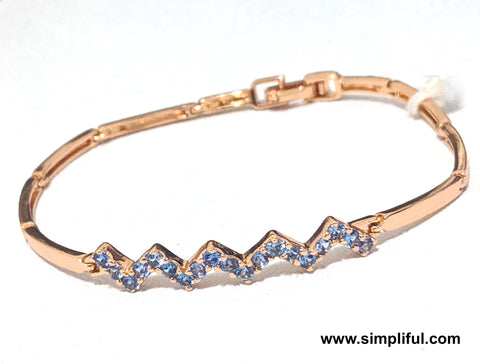 Rose gold finish zig zag Bracelet