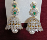 Long Haram Necklace and Earring set - Jhumka design - Original diamond design replica