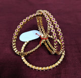 Ruby stones embedded one gram gold polished bangles