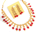 Polki stone embedded Choker Necklace and Earring set