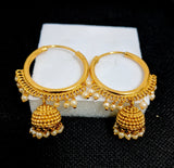 Small jhumka dangling bali style ring Earring - Design 2