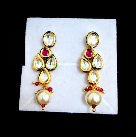 Small Kundan Earring - Design 3