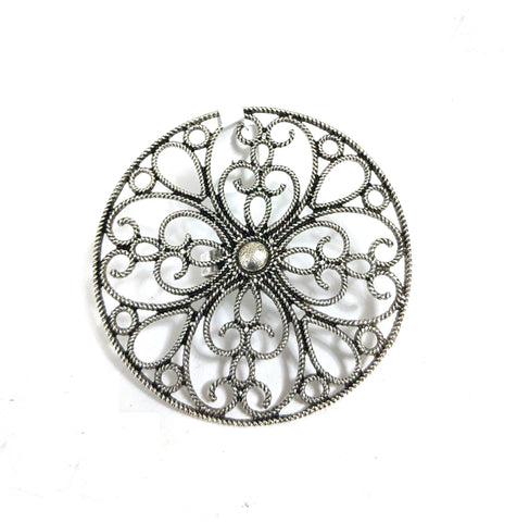 XXL Size Oxidized flower Round Adjustable Finger ring