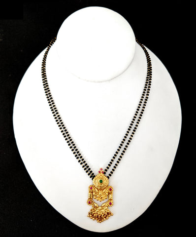 Antique Gold Traditional Pendant Mangalsutra - Simpliful