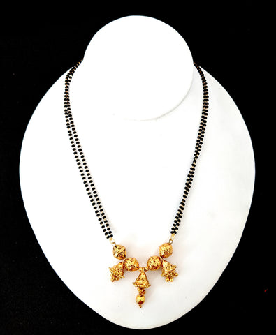 Cone bead hanging antique gold finish stylish Mangalsutra