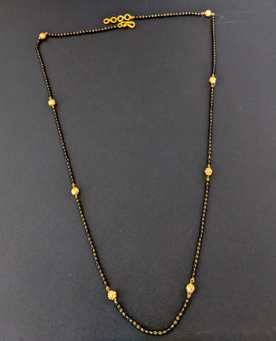 Simple gold ball with black bead Mangalsutra for pendants