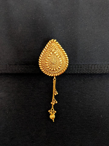 Traditional Gold plated Teardrop tassel Brooch - Design 2