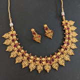 Traditional Raam Parivar Antique gold polished Choker Necklace and Earring set