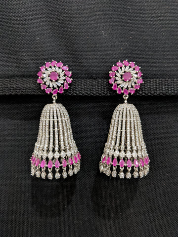 XXL size Cone Jhumka CZ Earrings