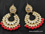 Kundan replica Earring - Design 1 - Simpliful