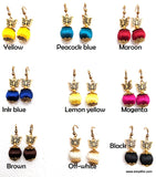 Silk Thread silk bead butterfly casual hook drop Earring - Simpliful