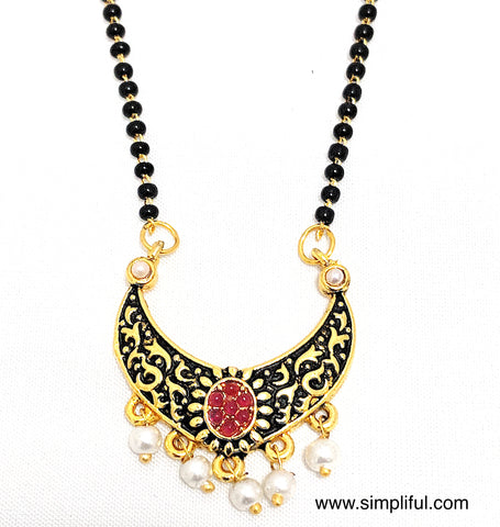 Ramleela style Mangalsutra - Single Chain - Simpliful