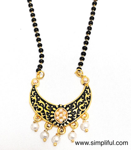 Ramleela style Mangalsutra - Single Strand Chain - Simpliful