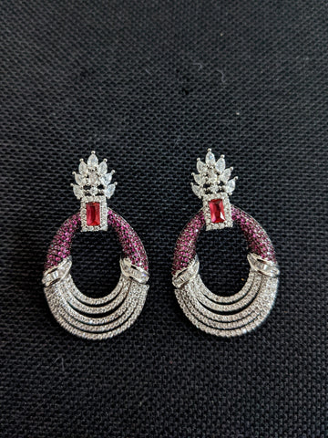 Celebrity design Statement CZ earrings