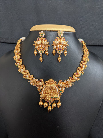 Ram Parivaar Choker Necklace and Earrings set