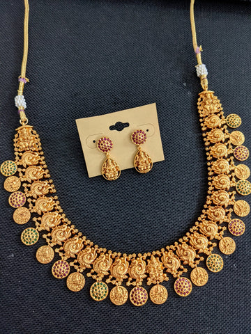 Nagasi work Indian Choker Necklace and Earrings set
