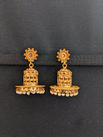 Hat design Jhumka Earrings