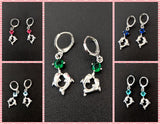 3 pairs for $11 - Platinum finish earring ring style drop earring - Random designs