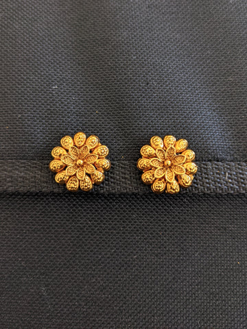 Gold plated Flower stud Earrings