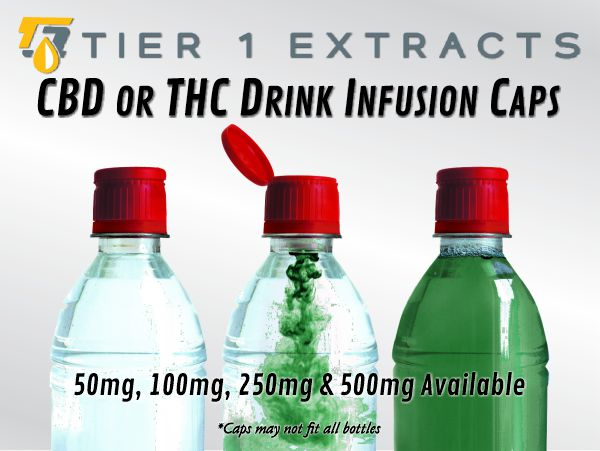 CBD or THC Drink Infusion Caps