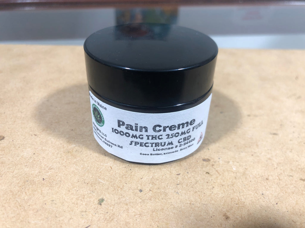 Pain Creme - 1000mg THC/250mg CBD (full spectrum)