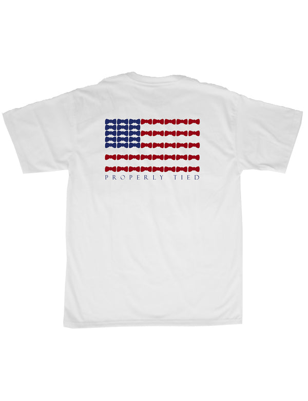 Bow Tie Flag SS White