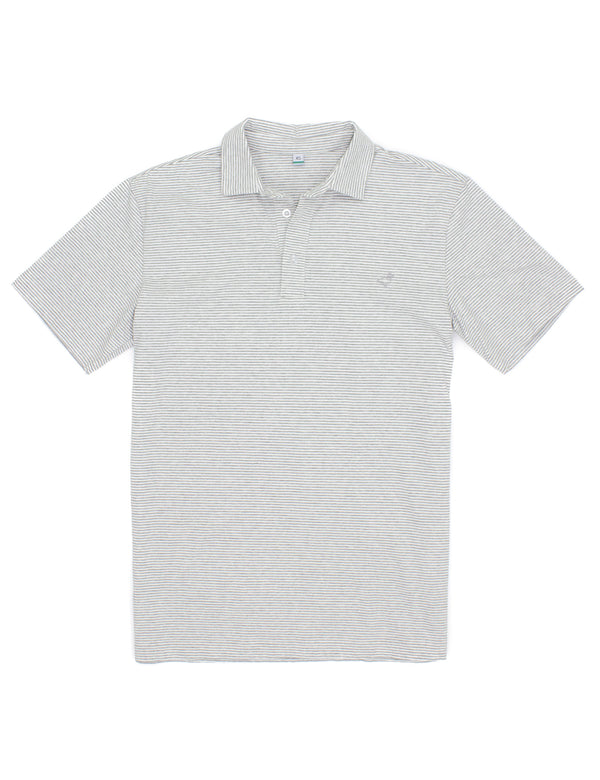 Jackson Polo Heather Grey Stripe