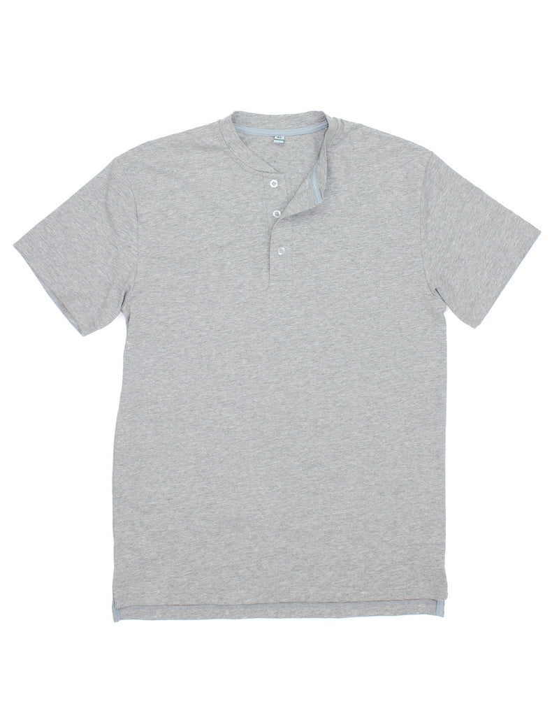 LD Ozark Henley Light Heather Grey