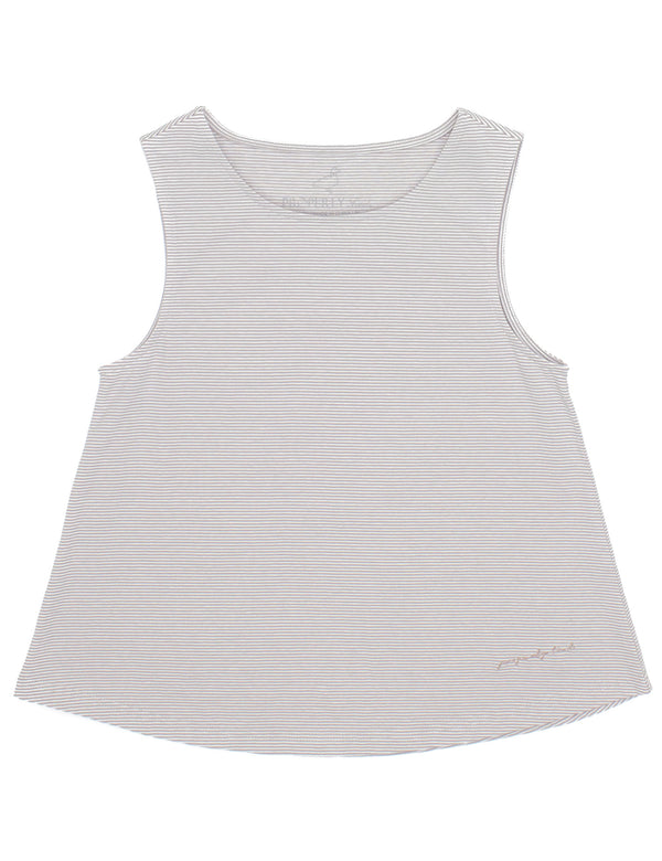 LD Shore Tank Pewter Stripe