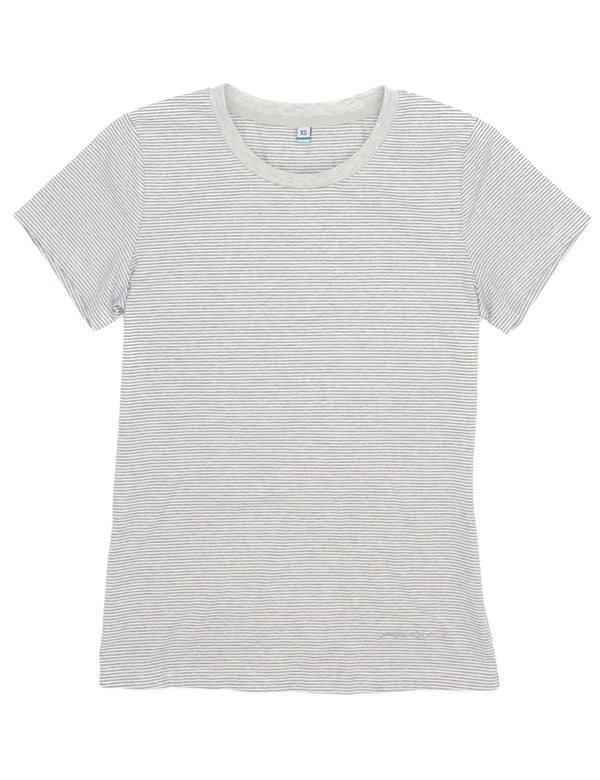 LD Coast Tee SS Heather Grey Stripe