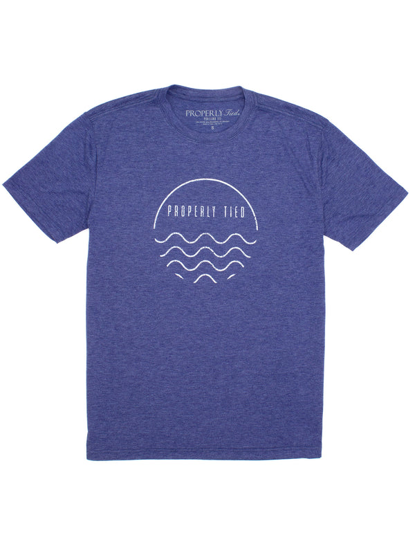 Portland Tee SS Wave Navy Heather