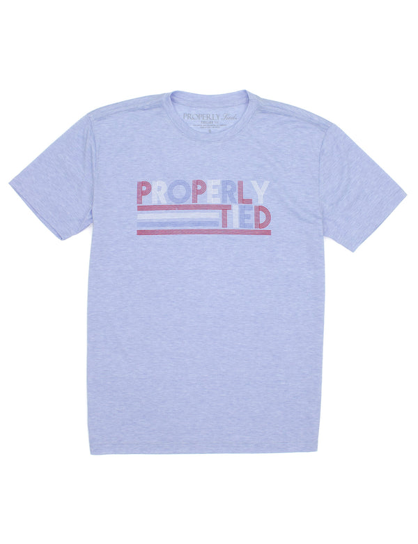 LD Portland Tee SS Freedom Baby Blue Heather