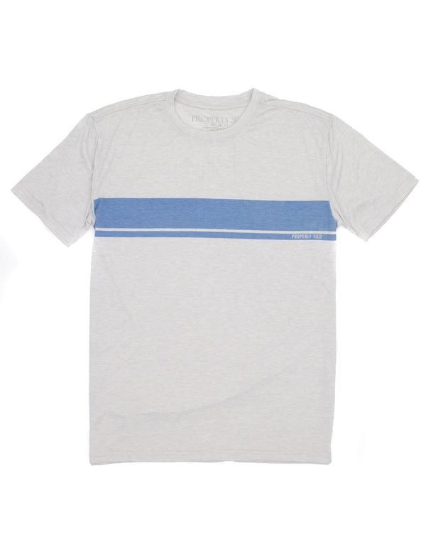 Portland Tee SS Stripe Ice Grey Heather