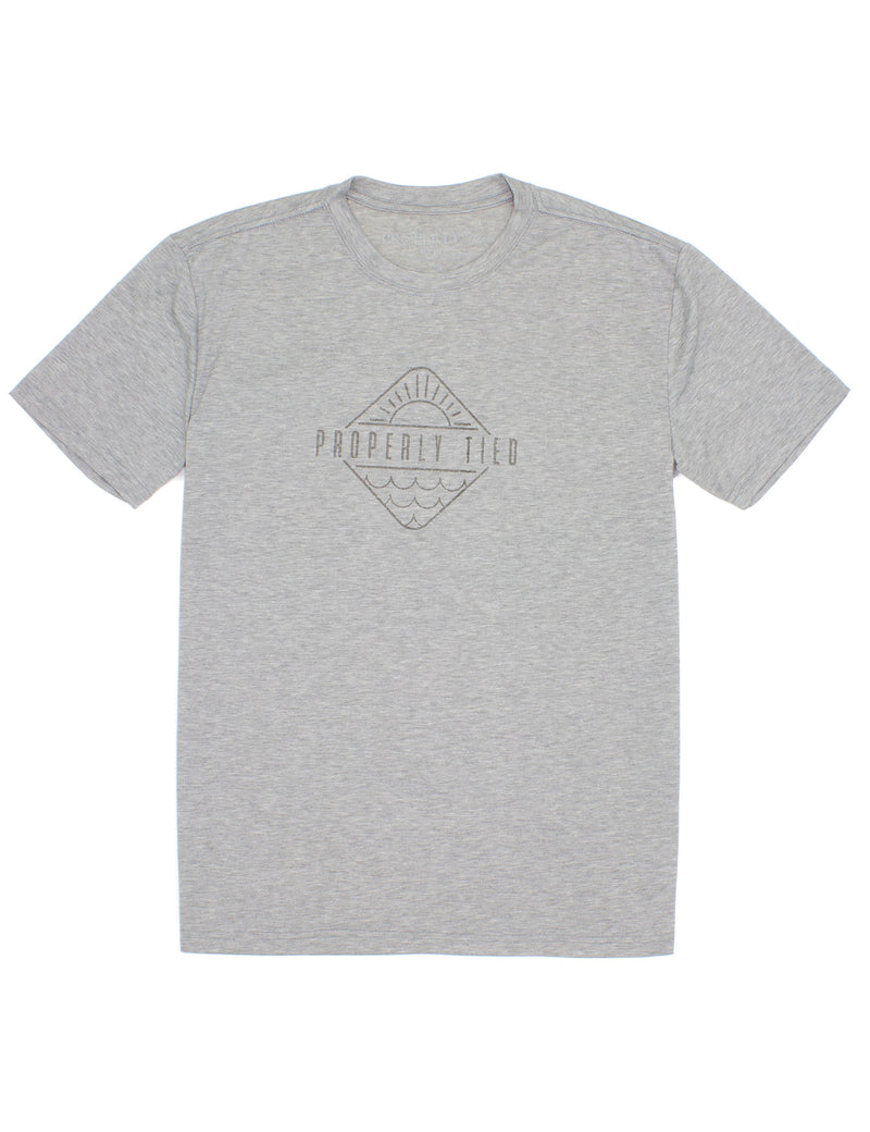 LD Portland Tee SS Sunshine Heather Grey