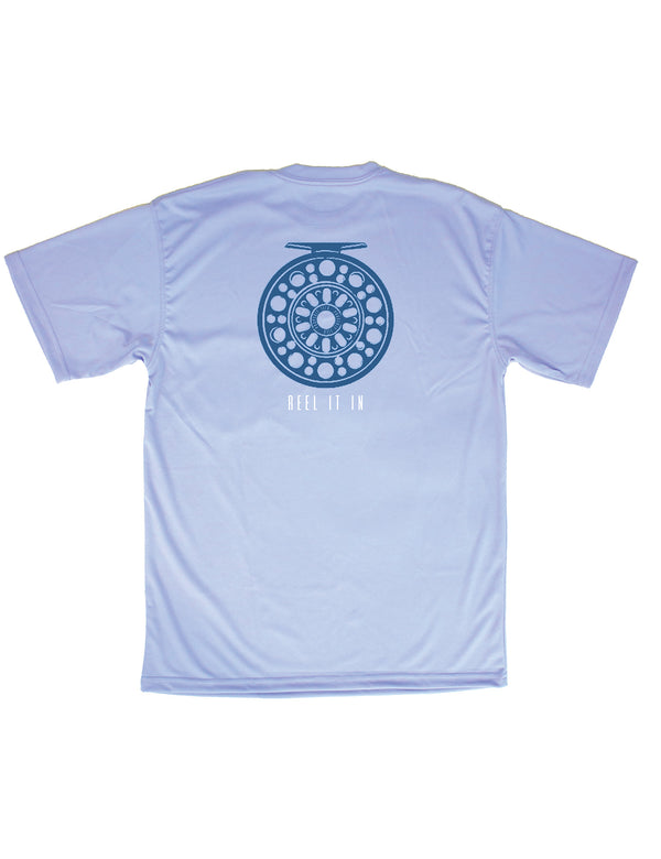 SS Performance Tee Reel It In Light Blue