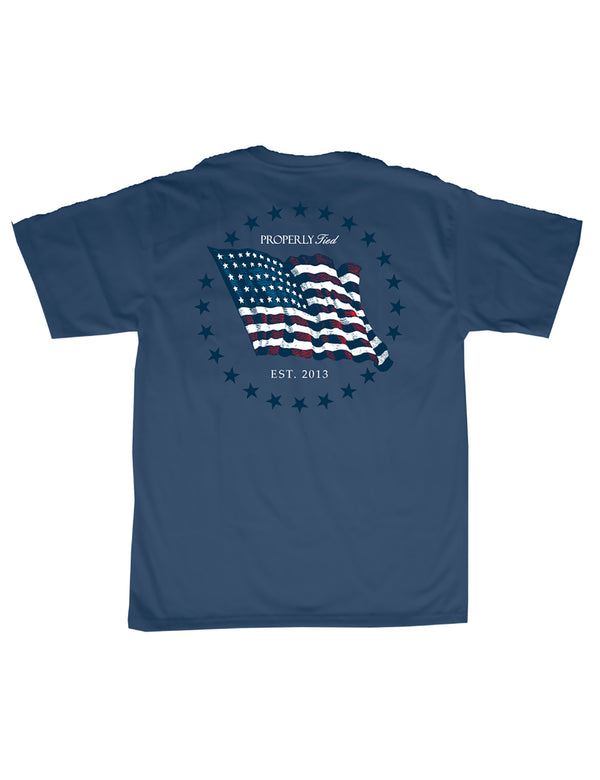 Americana Flag SS Space Blue