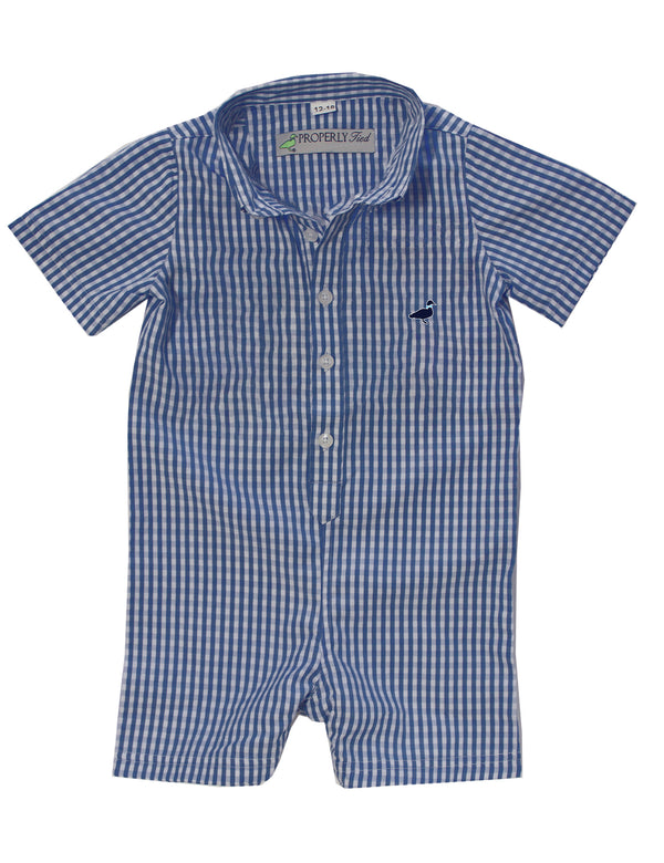 Woven Onepiece Navy Gingham