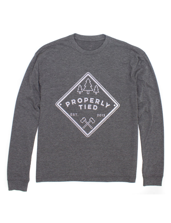 Portland LS Patch Dark Heather Grey