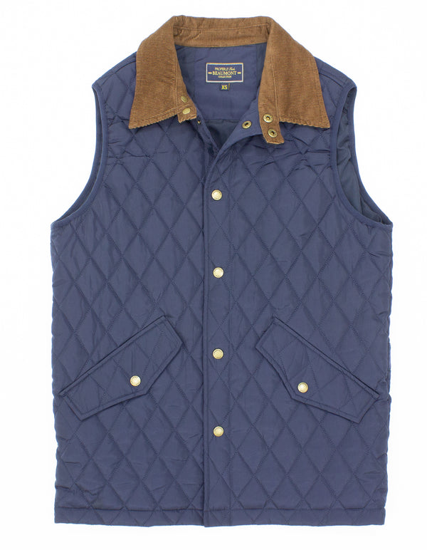 Beaumont Vest Navy