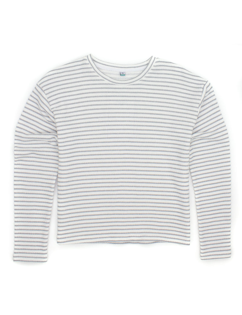 Grayson Crewneck Pewter Stripe