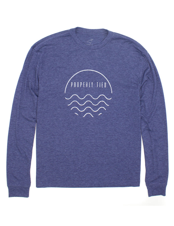 Portland LS Wave Navy Heather