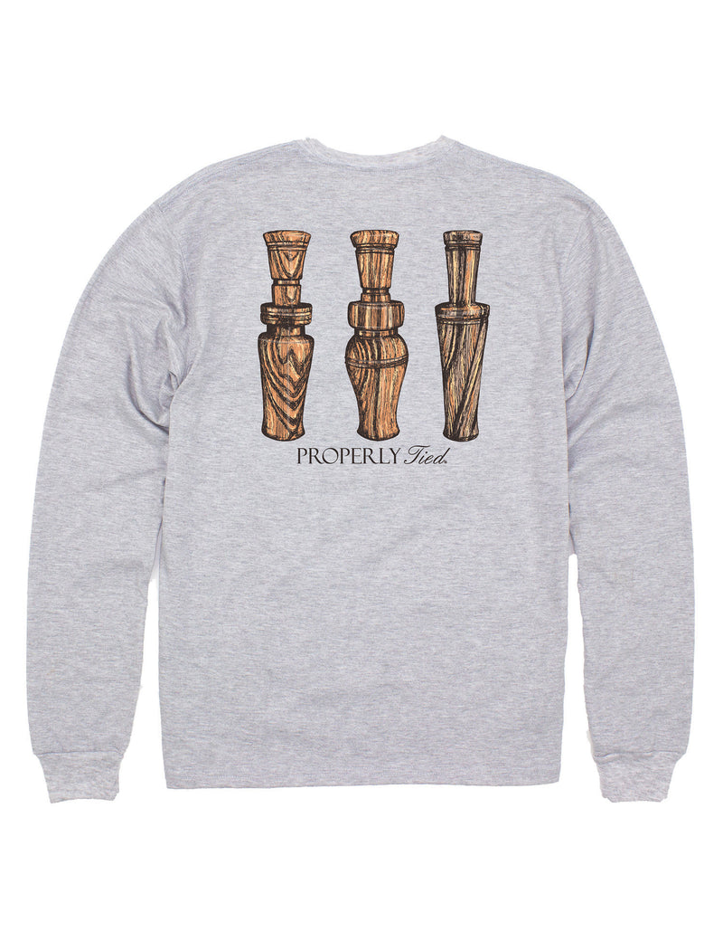 Duck Calls LS Light Heather Grey