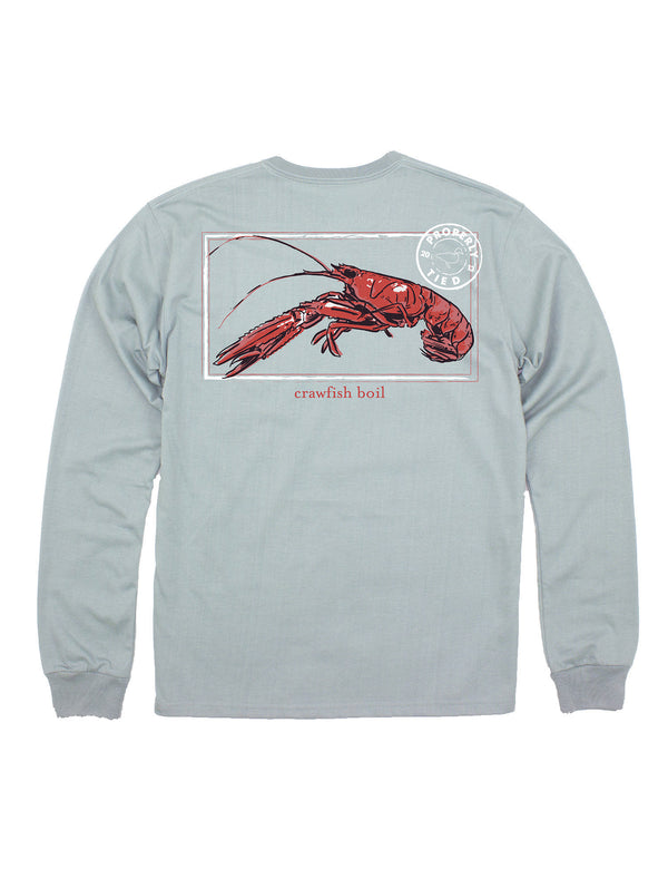 Crawfish Season LS Chrome Grey