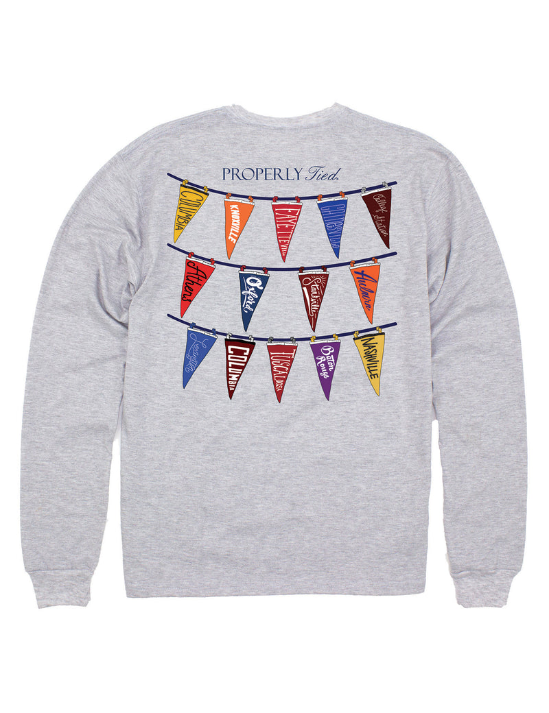 Classic Pennants LS Light Heather Grey